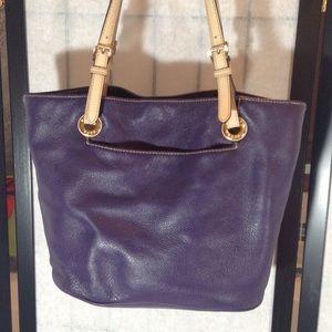 MK purple tote bag
