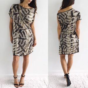 BCBGMAXAZRIA Snake Print Dress