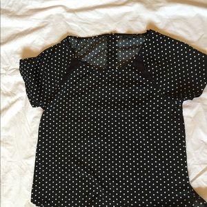 American Eagle polka dot blouse