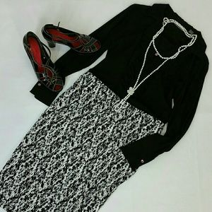 Vince Camuto Skirt black & white Size:M
