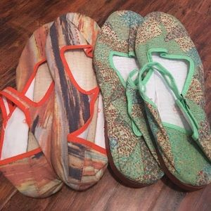 Two Pairs of Size 8 Mary Janes