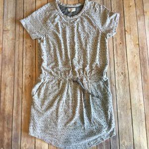 Lou & Grey | Loft Gray Midi Dress Casual Eyelet M