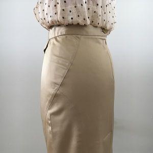 BCBGMaxAzria Champagne Tone Skirt