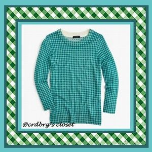 NWT, JCrew Gingham Tippi Sweater