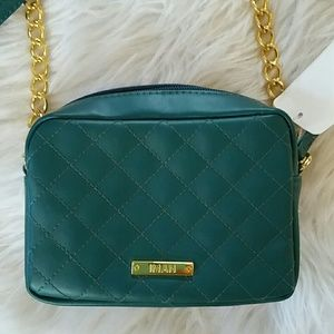 BNWT | IMAN | green quilted crossbody