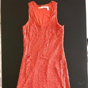 CHELSEA & VIOLET Sequin Knee-Length Dress Lined