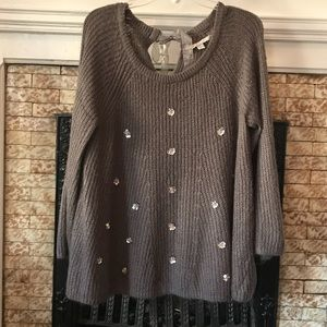 Beautiful Charcoal Gray Lauren Conrad Sweater