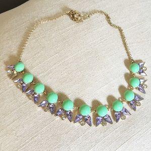 J. Crew Multi Jewel Necklace