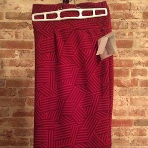 Lularoe Cassie Skirt XL Shades of Red BNWT