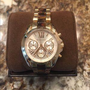 Michael Kors women's tortoiseshell & gold watch
