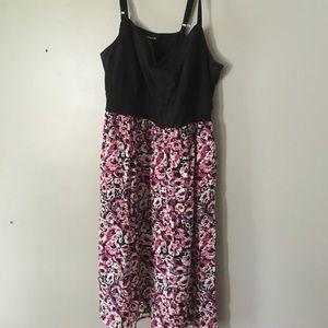 Torrid skater dress with floral skirt (Size 2)