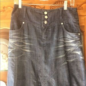 Style j full length denim skirt