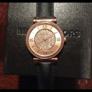 Rose Gold & Black Michael Kors Watch