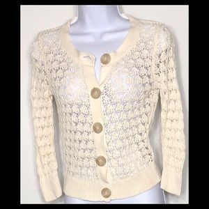 Old Navy Cotton Crocheted Cardigan