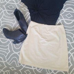 Shaver Lake Petite Corduroy Beige Skirt Size 6