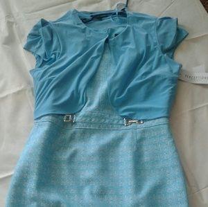Light Blue dress & short jacket