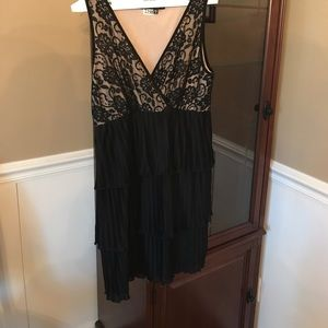 Lace top/ruffle skirt party dress