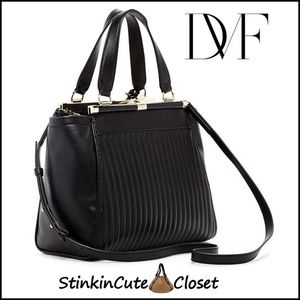 Diane von Furstenberg Brickway Leather Satchel