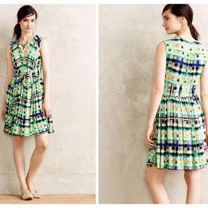 Anthropologie Aven Dress. Green Motif. SP