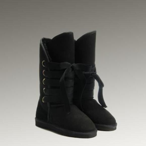 ugg classic tall nomad roxy lace up boot black sz rh poshmark com
