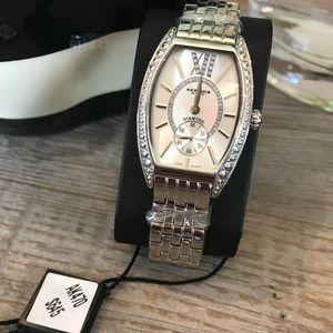 AKRIBOS XXIV Quartz Analog Watch with Diamonds