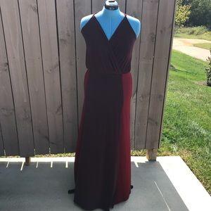 Victoria's Secret Spaghetti Stripped Maxi Dress L