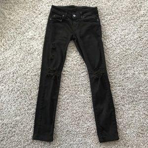 Carmar Denim Distressed Jeans Deep Green Size 25