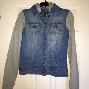 Juniors Jean and cotton Jacket