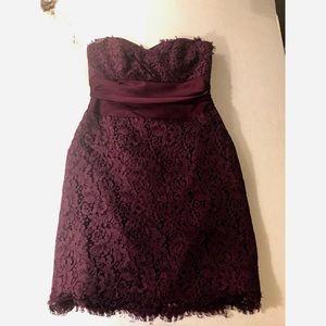 Mackenzie Michaels- Sz 10 Eggplant Strapless Dress