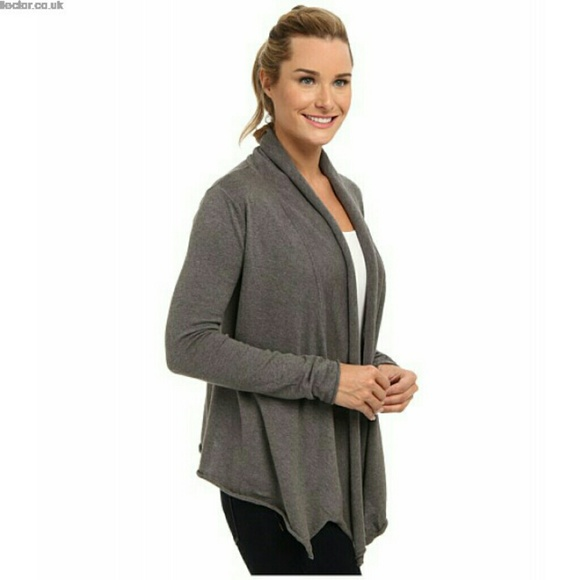 65% off Prana Sweaters - Prana Organic Cotton Wrap Sweater Grey XL ...