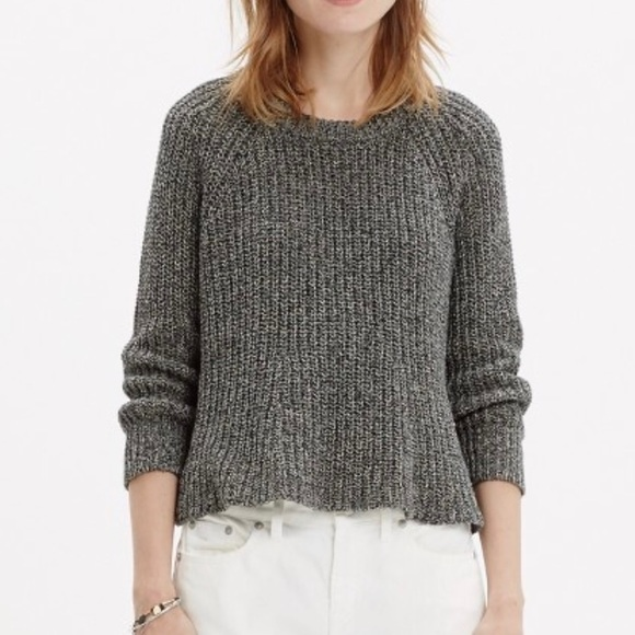 63% off Madewell Sweaters - MADEWELL | Gray Ribbed Cropped Swing ...