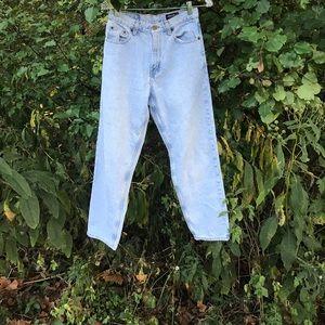 Vintage light wash mom jeans