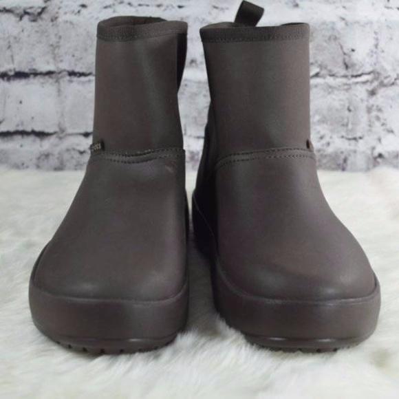 e4fbfa005c981 Crocs Colorlite Mahogany Faux Fur Rain Muck Boots