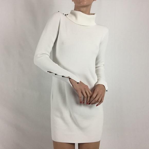 2c509838dda Club Monaco white cowl neck sweater dress
