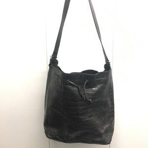Vintage Furla embossed leather bucket bag!