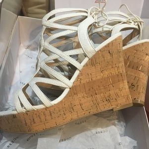 9f9898d5c30 Guess Shoes - Guess Huyana3 cork Wedge Sandals
