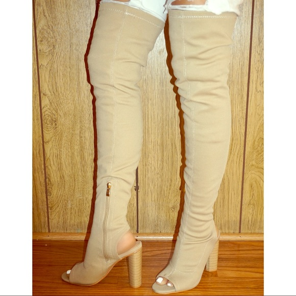 EGO Shoes   Sock Fit Thigh High Boots