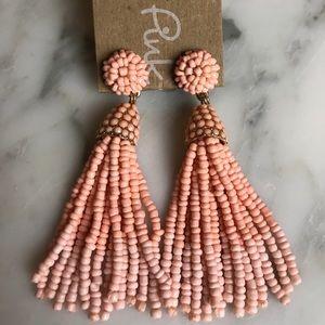 Jewelry - NWT Beaded tassel earrings - pink