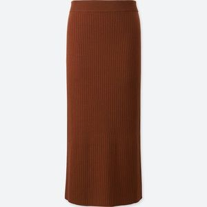 Dresses & Skirts - uniqlo women merino blend ribbed skirt