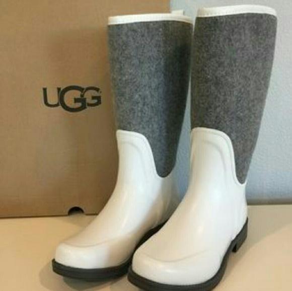 b7eba7b8d32 Uggs Reignfall Boots White Womens NWT