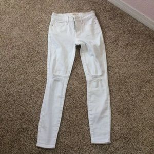 🚫SOLD🚫White skinny ripped pacsun jeans