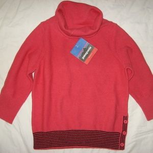Patagonia 80% lambswool red 3/4 sleeve sweater/NWT
