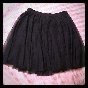 Lauren Conrad Black Tulle Skirt- medium