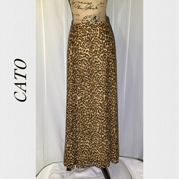 ce6dce5e63 Cato Skirts | Browntan Leopard Print Flared Maxi Skirt | Poshmark
