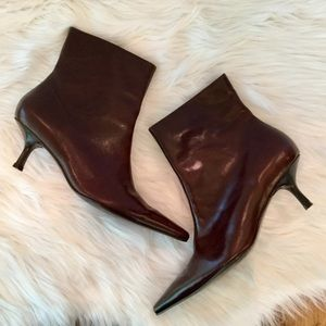 Naturalizer Leather Ankle Booties, 8, EUC