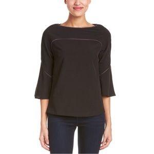 esley collection Women's Black 3/4 sleeve top