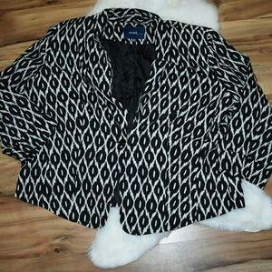 black and white dressy blazer