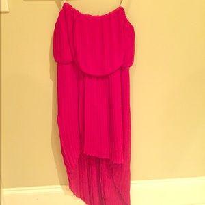 BCBGeneration strapless high low dress