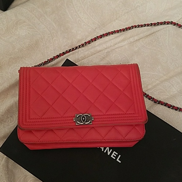 d9f2c74db1fd43 CHANEL Bags | Reduced Price Red Wallet With Chain | Poshmark