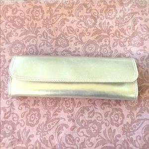 Silver clutch purse from GAP NWT